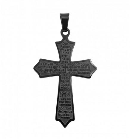 Крестик чёрный родиум