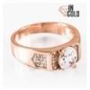 Кольцо позолота Печатка с круглым камнем