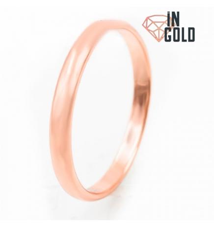 Кольцо позолота обручальное 0,3 (объемное)