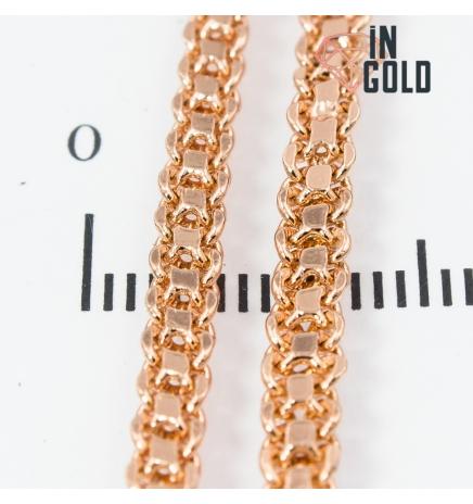 Цепочка позолота двухрядное якорное плетение 0,3/60 см