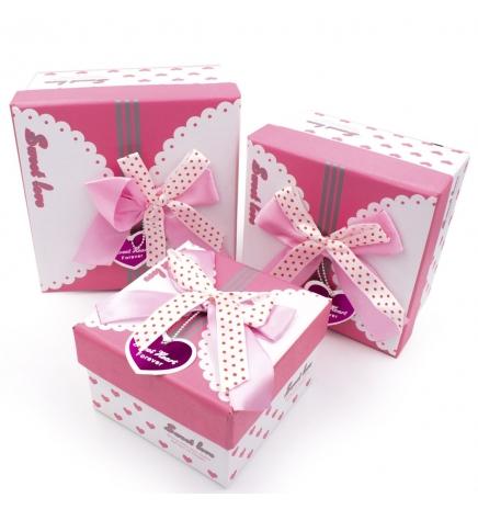 Набор подарочных коробочек (розовый) Sweet Love 3 шт