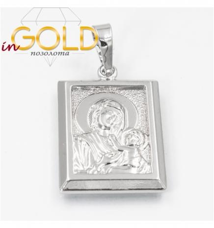Подвеска родиум Ладанка-Богородица