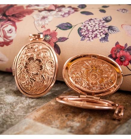 Кулон позолоченный Медальон открывающийся