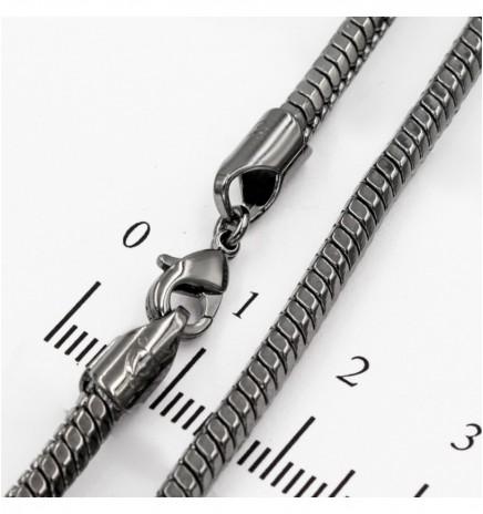 Цепочка черный родиум снейк 0,3/50 см