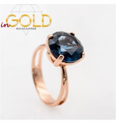 Кольцо позолота Камень 1,2