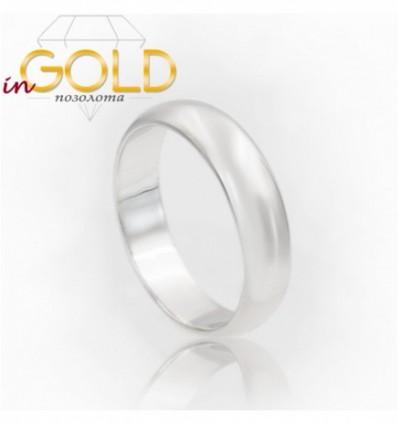 Кольцо родиум 0,6 см объемное
