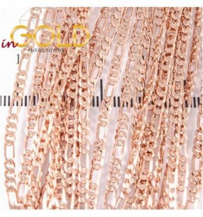 Цепочка позолота плетение картье плоское 0,2/50 см