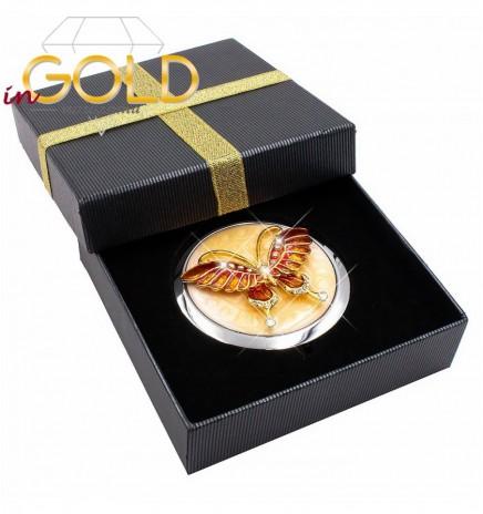 """Зеркало косметическое """"Огненный монарх"""" в подарочной коробке"""