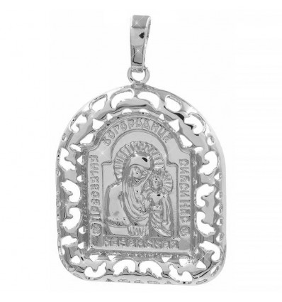 Подвеска позолота Ладанка-Богородица в ажурной рамочке 2,9 х 2,5 см